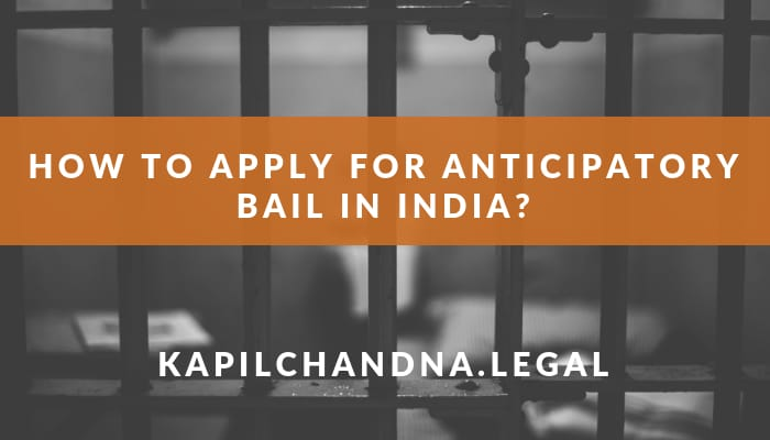 how to apply for anticipatory bail